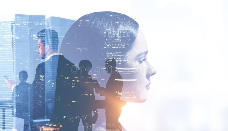 Frauenführender Vertreter der Wirtschaft und ihr Team stockfoto