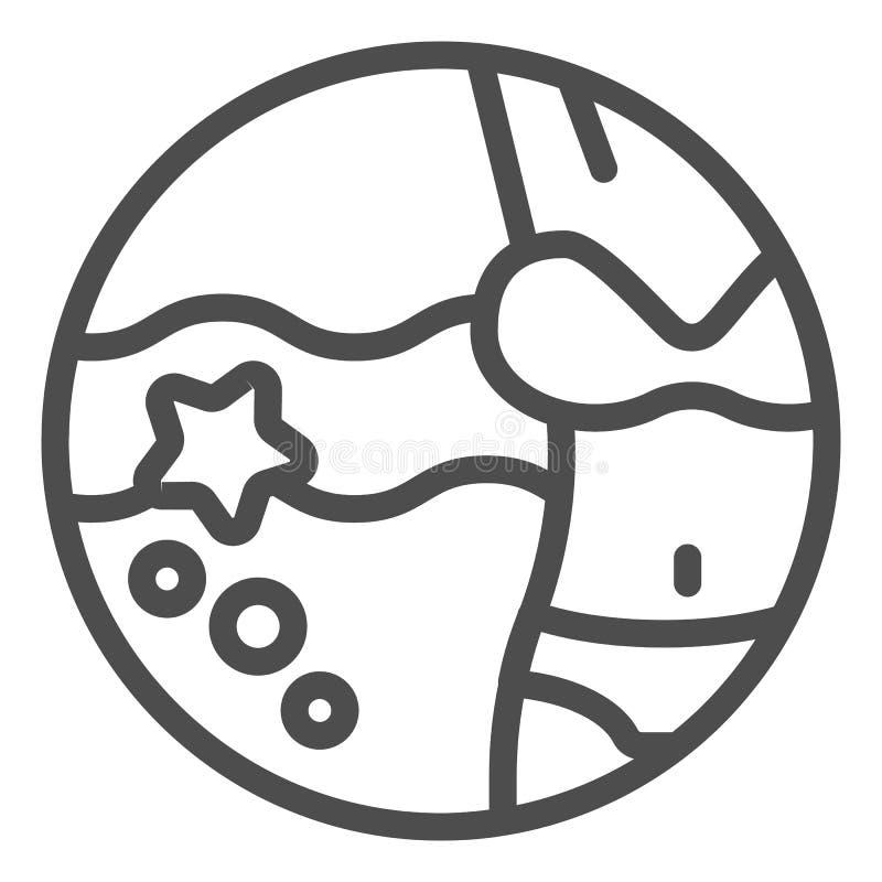 Frauenfigur und Strandlinie Ikone Ferienvektorillustration lokalisiert auf Wei? Bikinientwurfs-Artentwurf, entworfen vektor abbildung