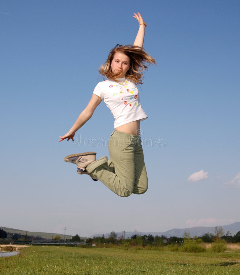 Frauenfliege stockfoto