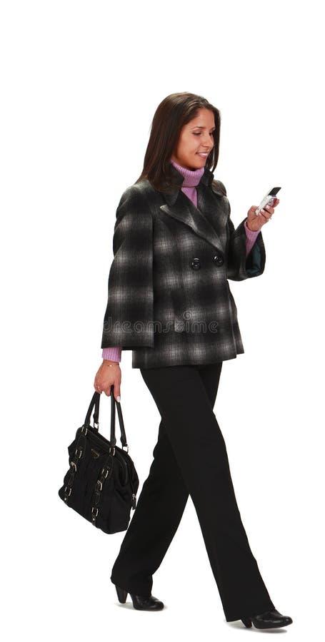 Frauengehen Stockfoto