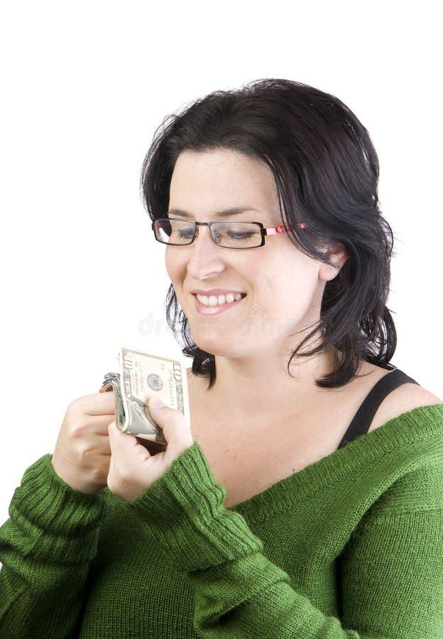 Frauengeld lizenzfreie stockfotos