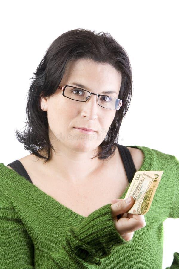 Frauengeld stockbild