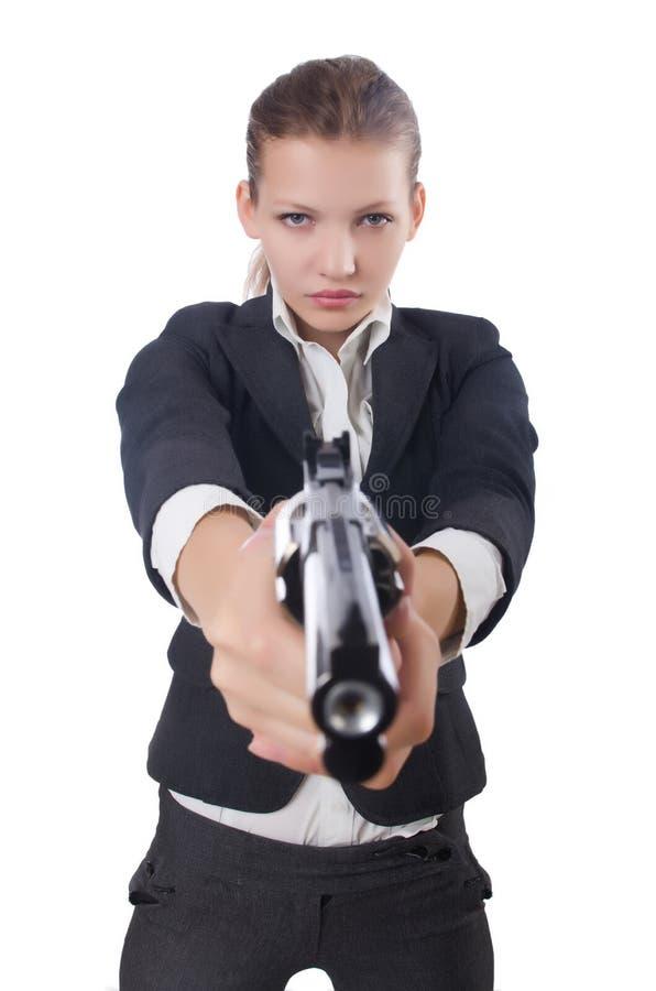 Frauengeschäftsfrau stockbild