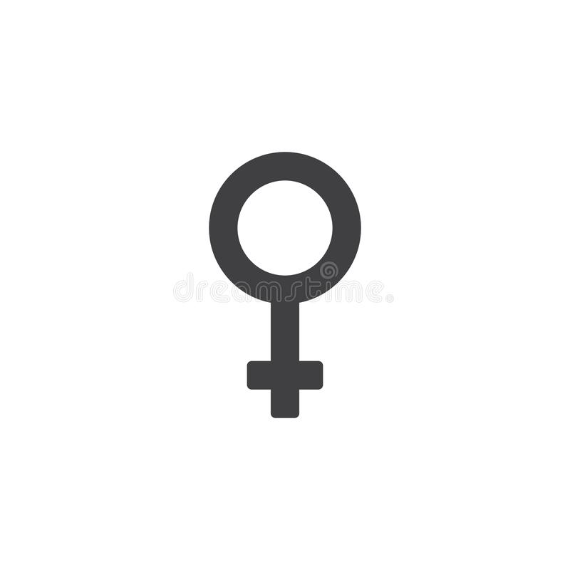 Frauengeschlechtssex-Vektorikone stock abbildung