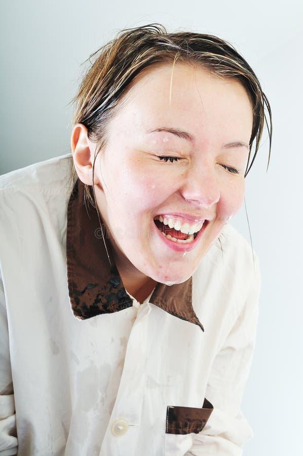 Frauengesichtswäsche stockfoto
