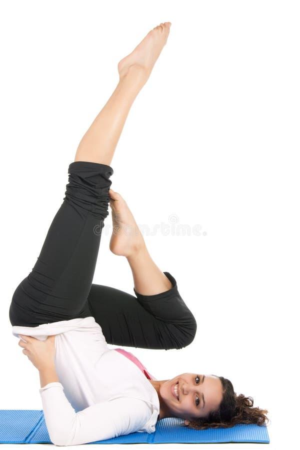 Frauengymnastik üben lizenzfreie stockfotografie