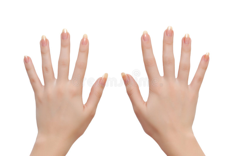 Frauenhände stockbilder