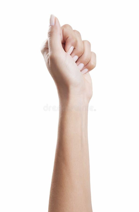 Frauenhandfaust lizenzfreies stockfoto