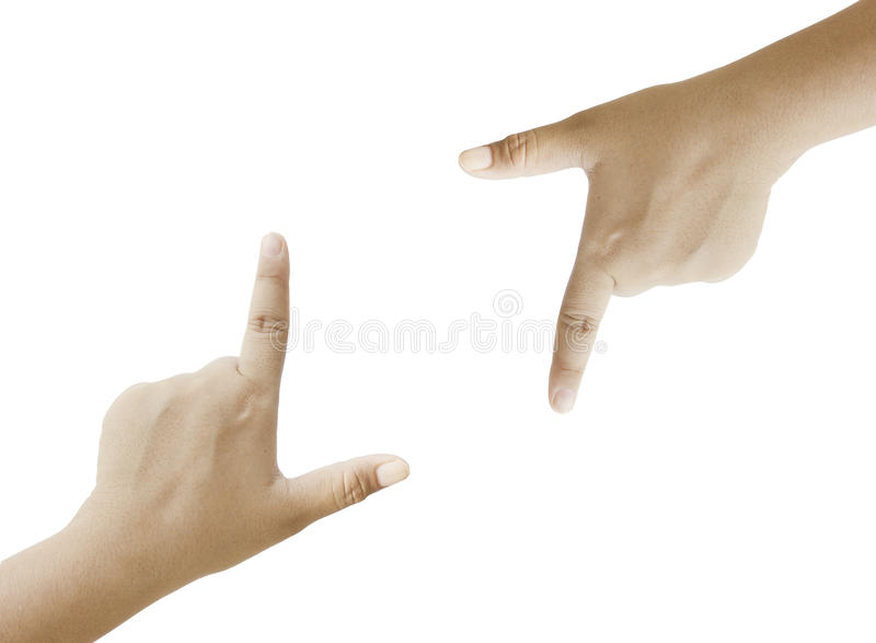 Frauenhandtouch Screen lizenzfreie stockfotos