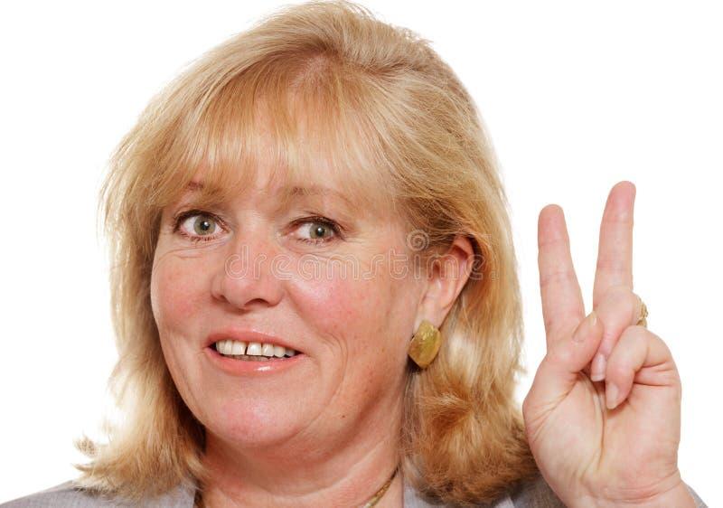 Frauenhandzeichen lizenzfreie stockbilder
