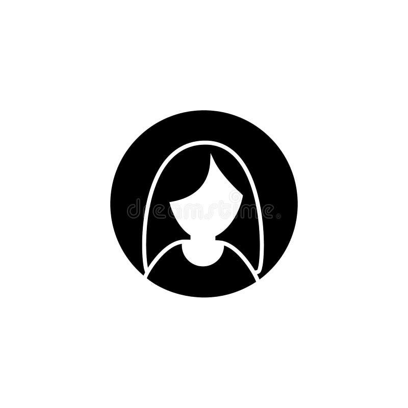 Frauenhauptsymbol Weibliche Avataraikone des Glyph lizenzfreie abbildung