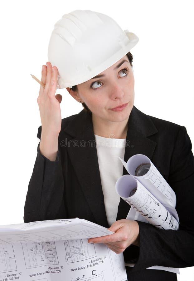 Fraueningenieur. stockbilder
