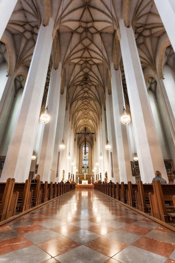 Frauenkirche教会在慕尼黑,德国 库存图片