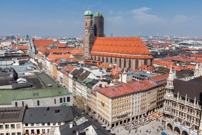 Frauenkirche教会慕尼黑德国 免版税库存图片