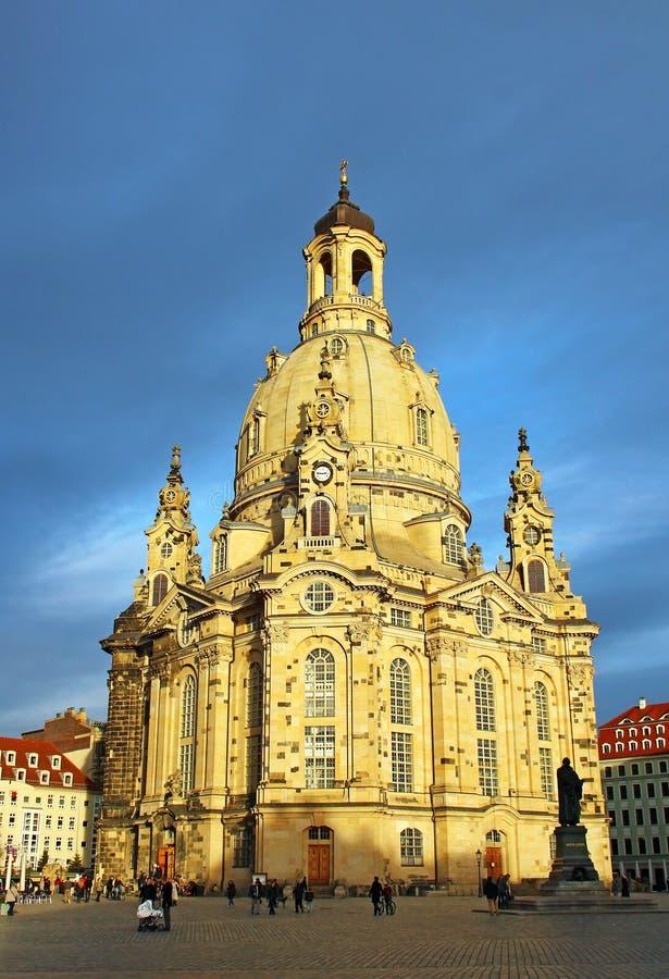 Frauenkirche à Dresde, Allemagne photo libre de droits