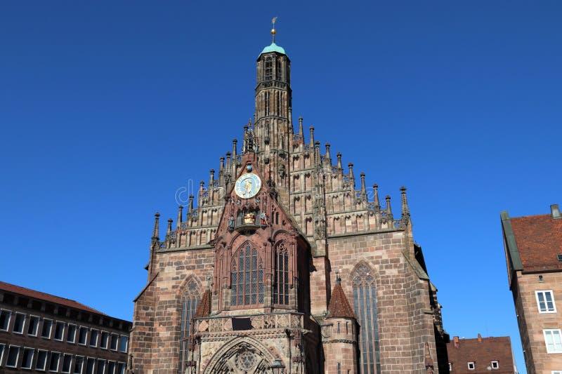 Frauenkirche в Нюрнберг стоковые изображения