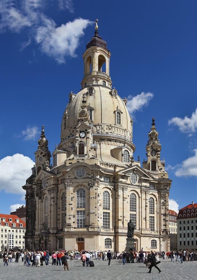 frauenkirche Германия dresden собора стоковые фотографии rf