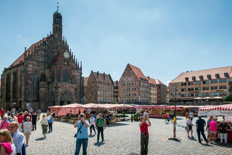 Frauenkirche, Нюрнберг стоковые изображения rf