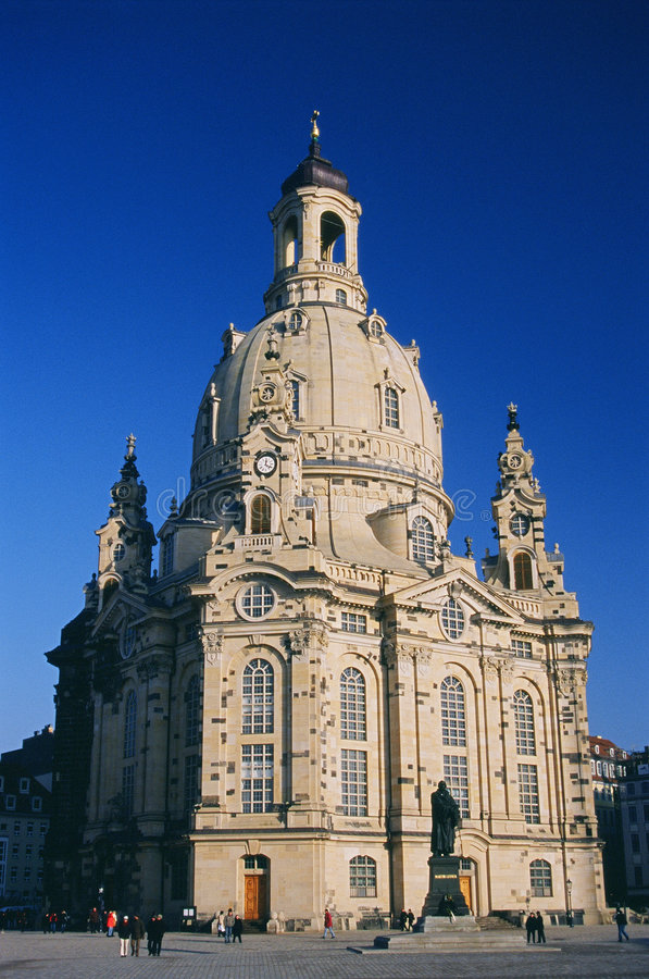Frauenkirche Dresda fotografia stock libera da diritti