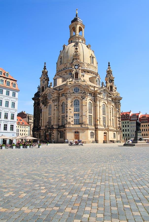 frauenkirche dresden церков стоковые изображения