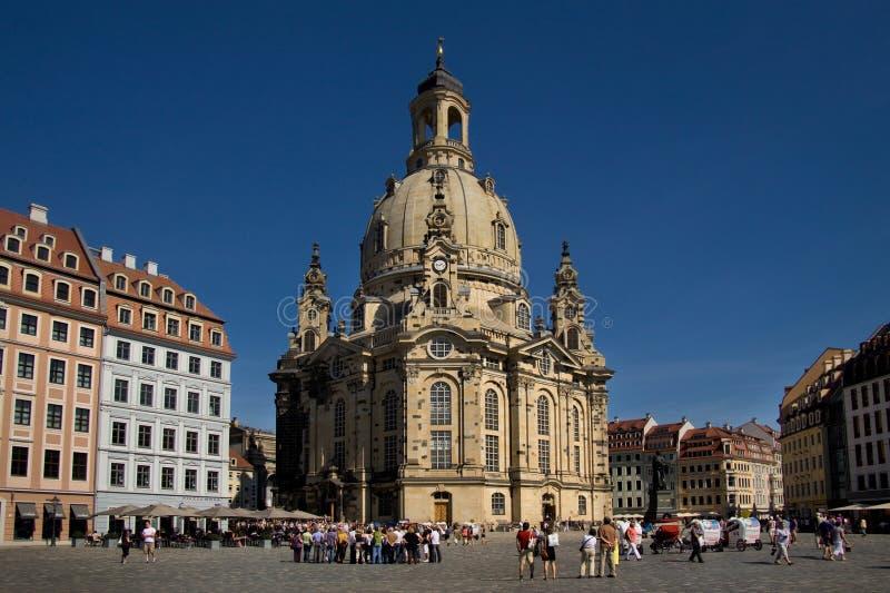 Frauenkirche Dresden fotografia royalty free