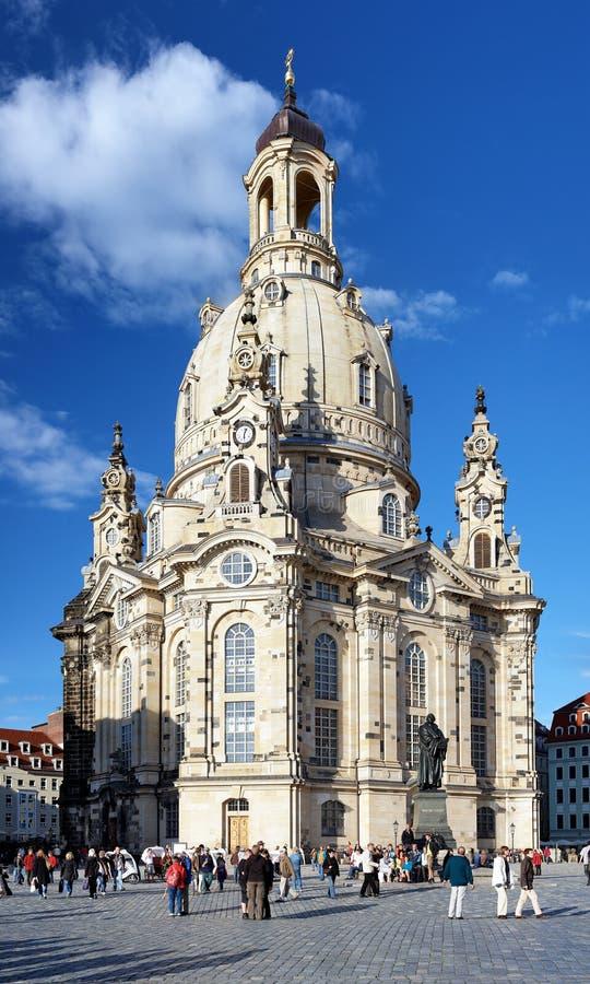 Frauenkirche in Dresden, Duitsland royalty-vrije stock foto