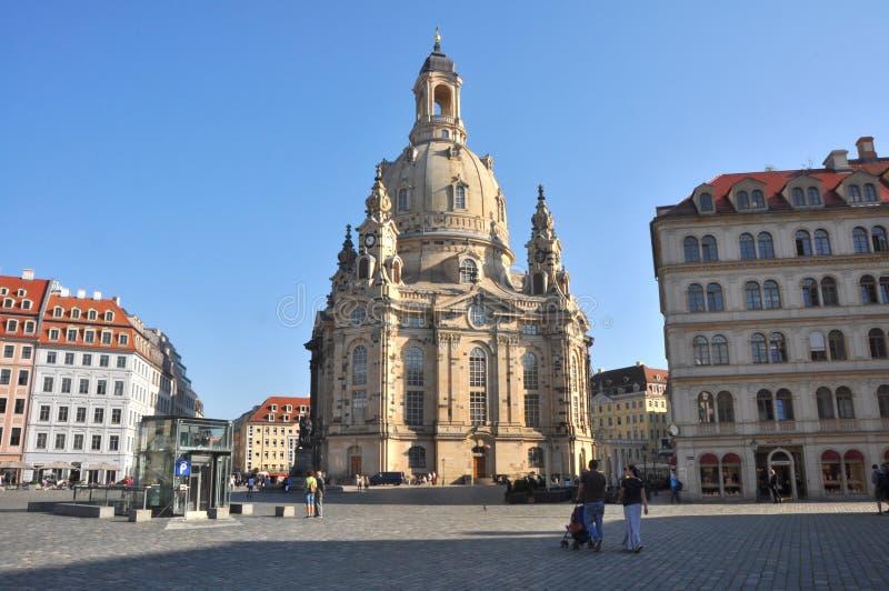 Frauenkirche Dresden - Tyskland royaltyfria bilder