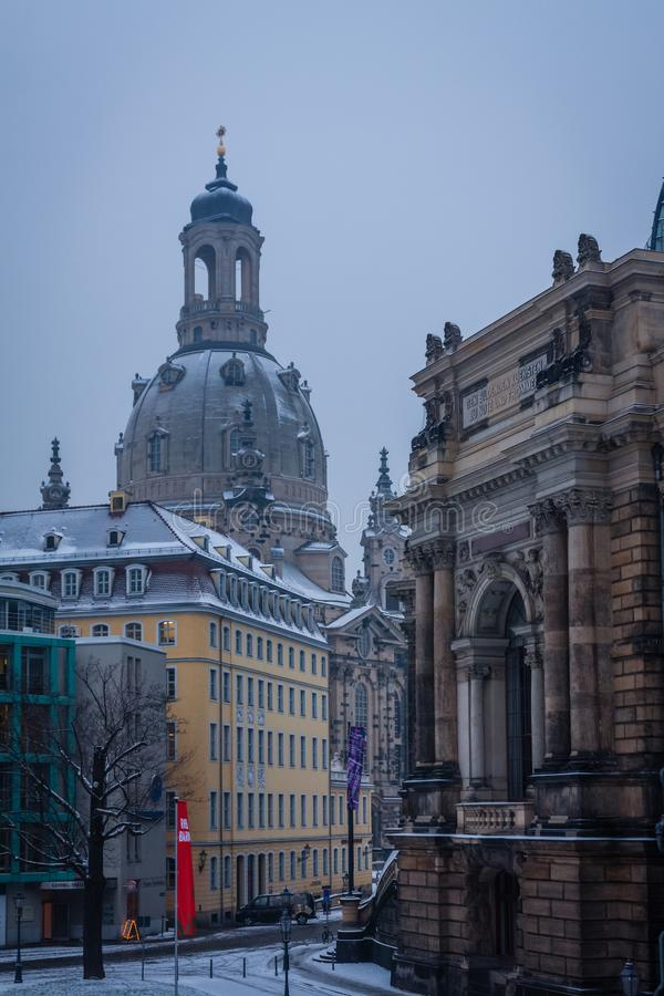 Frauenkirche famoso di Dresda, Germania immagine stock