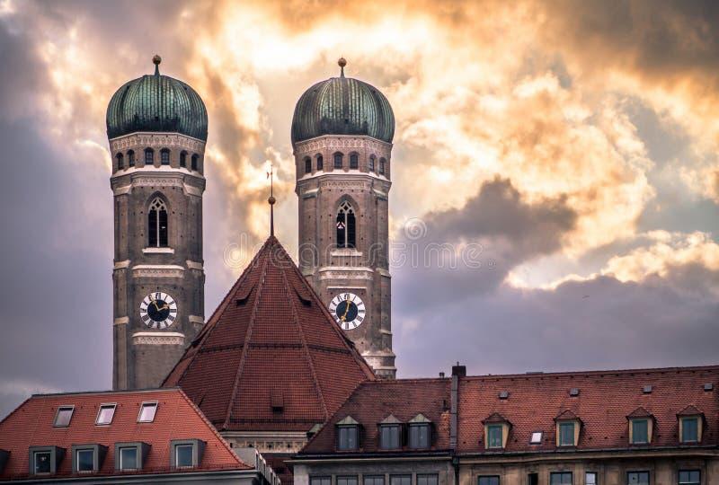 Frauenkirche - katedra Nasz Kochana dama, Monachium, Niemcy zdjęcie stock
