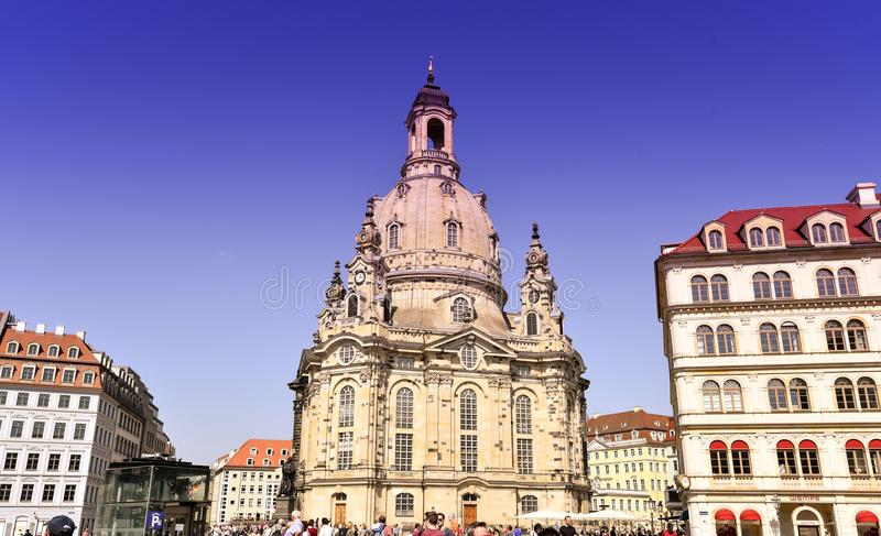 Frauenkirche May 2018 - Dresden, Germany stock images