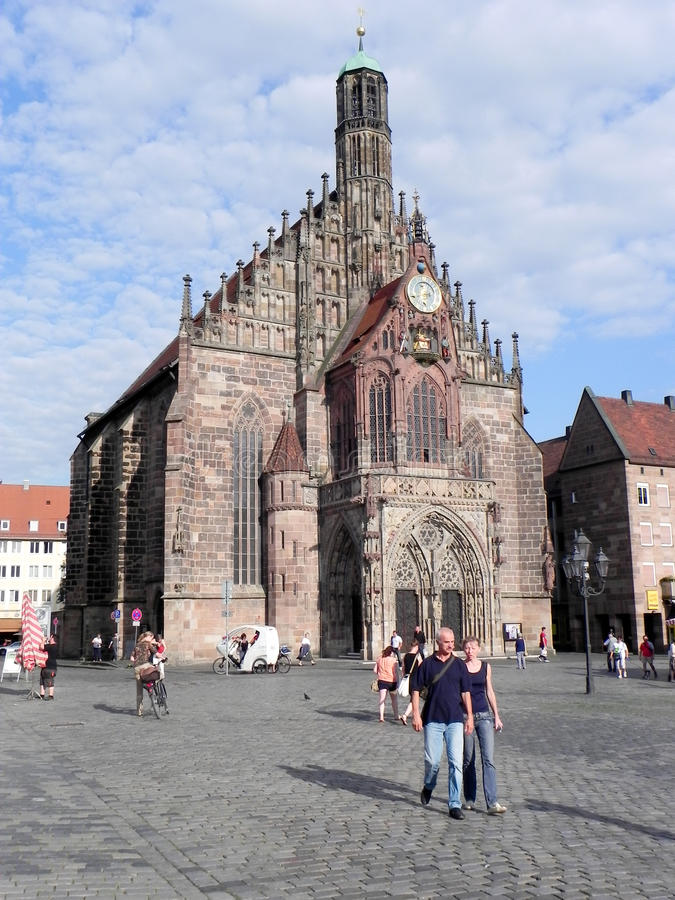 Download Frauenkirche  in Nuremberg editorial image. Image of religious - 26843935