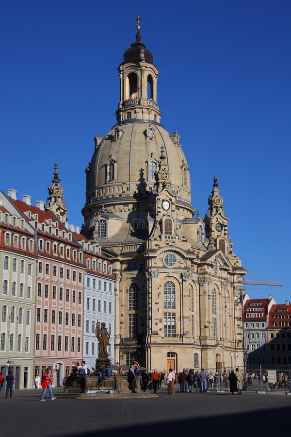 Frauenkirche w Drezdeńskim, Saxony fotografia stock