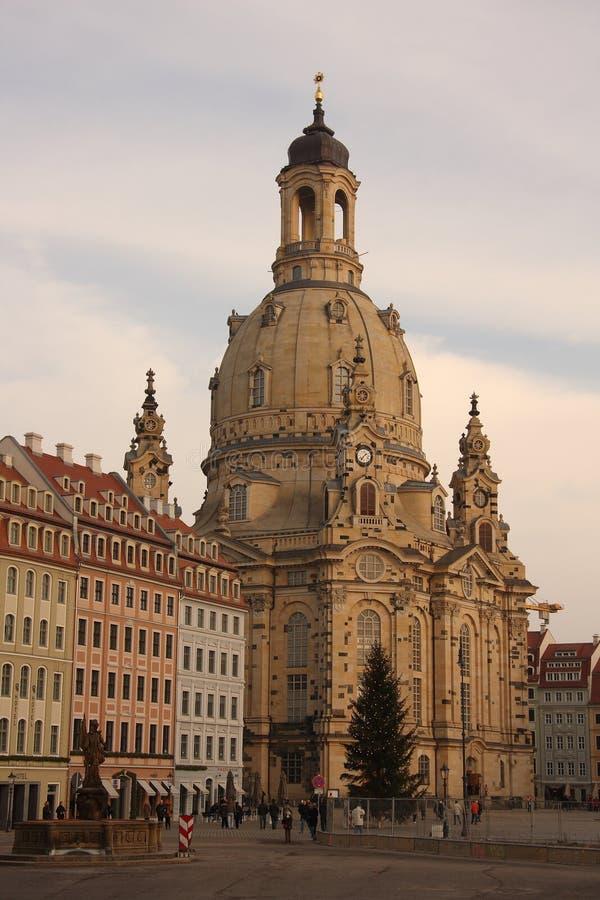 Frauenkirche w Drezdeńskim, Saxony zdjęcie royalty free