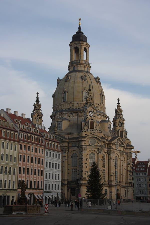 Frauenkirche w Drezdeńskim, Saxony obraz stock