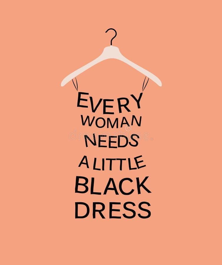 Frauenkleid vom Zitat lizenzfreie abbildung