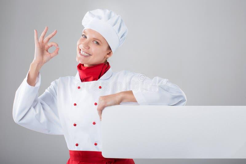 Frauenkoch stockfoto