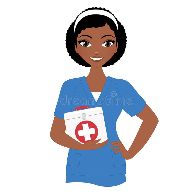 Frauenkrankenschwester lizenzfreie abbildung