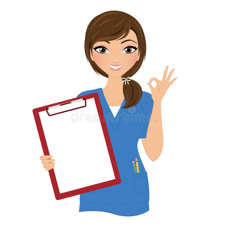 Frauenkrankenschwester vektor abbildung