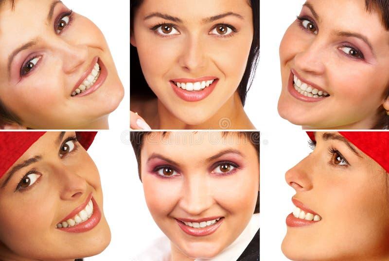 Frauenlächeln lizenzfreie stockfotos