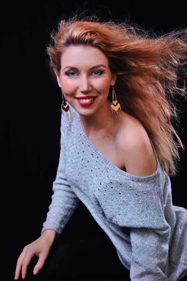Frauenlächeln stockfotos