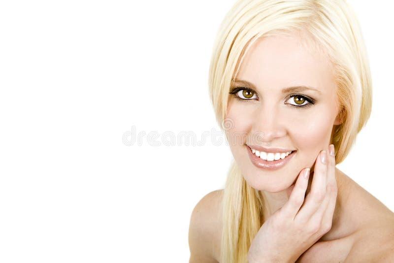 Frauenlächeln stockfotografie