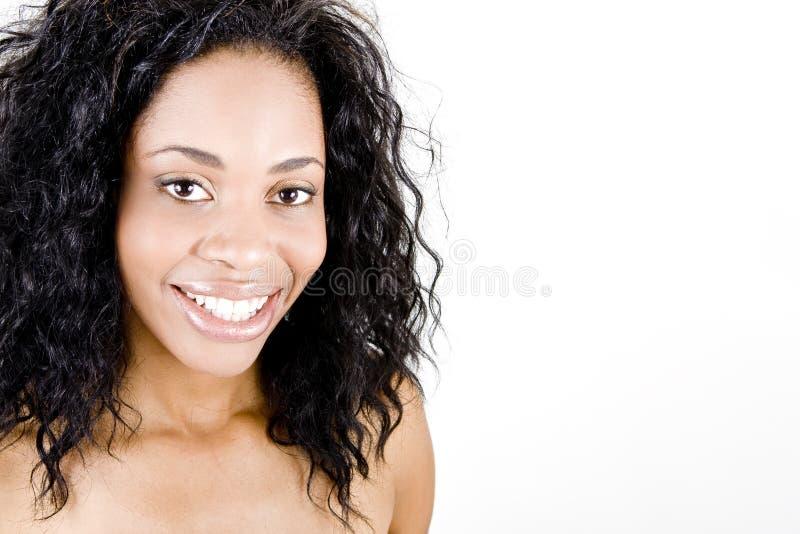 Frauenlächeln stockfoto