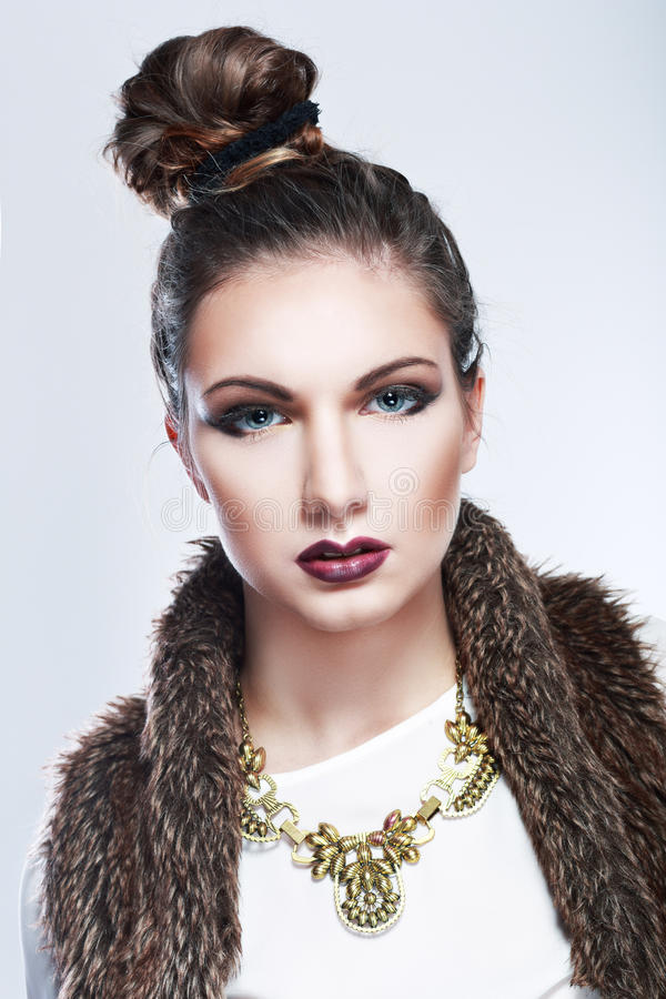 Frauenmodell lizenzfreies stockfoto