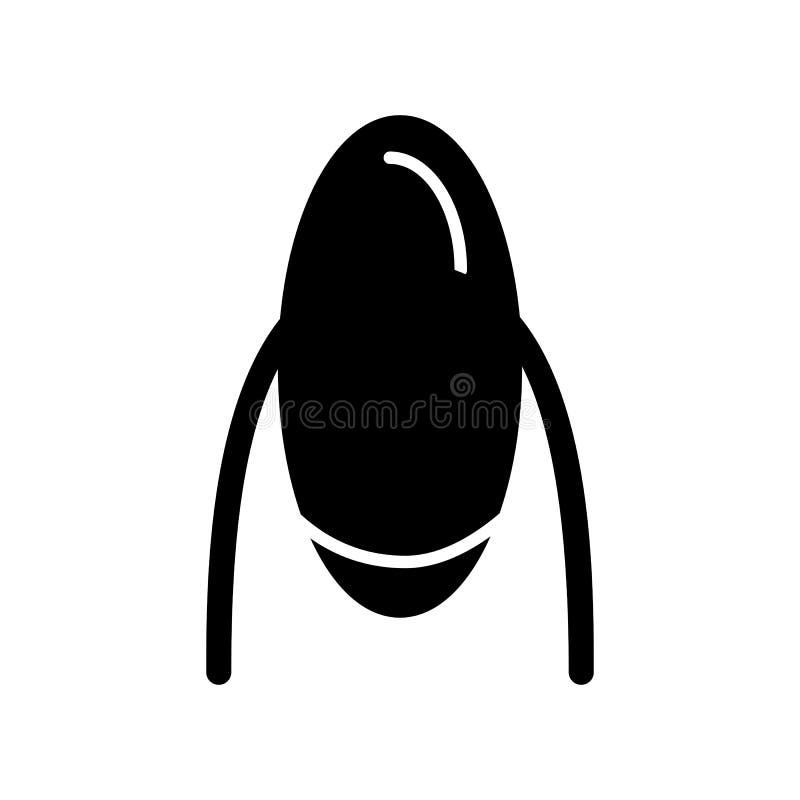 Frauennagel-Vektorikone Schwarze Maniküreillustration auf weißem Hintergrund Feste lineare Nagelpflegeikone lizenzfreie abbildung
