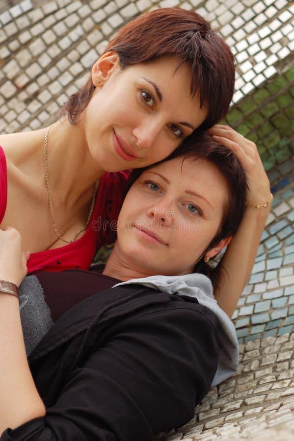 Frauenpaare stockbild