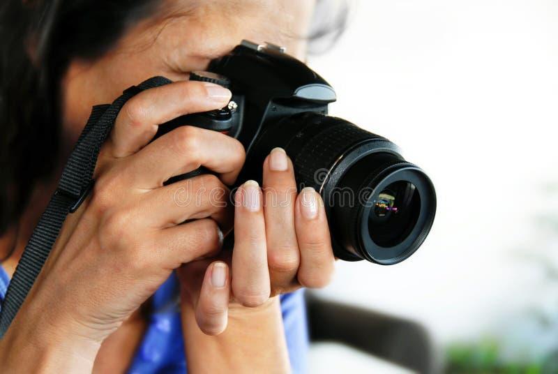 Frauenphotograph stockfotos