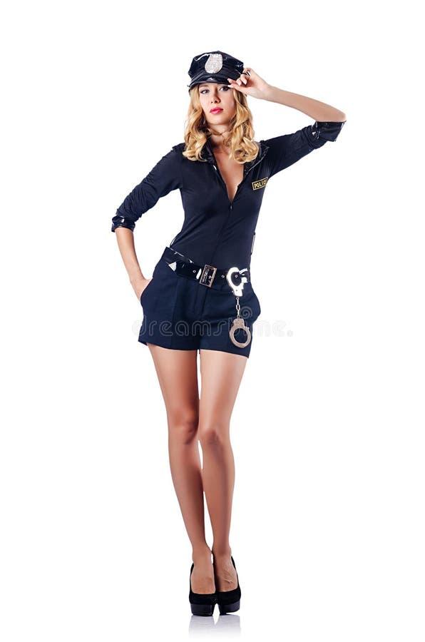 Frauenpolizeikonzept lizenzfreies stockfoto