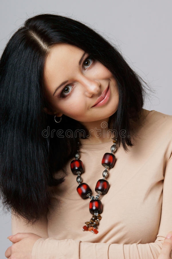 Frauenportrait stockbild