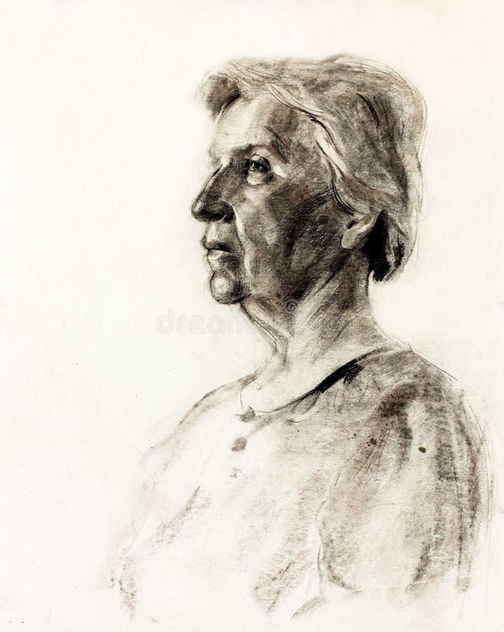 Download Frauenportrait stock abbildung. Illustration von hell - 27729497