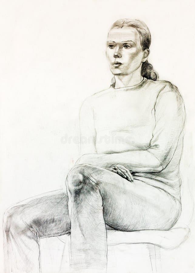 Download Frauenportrait stock abbildung. Illustration von künstler - 27729521